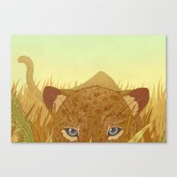leopard Canvas Prints featuring Leopard by Miguel Co