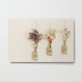 hanging flowers Metal Print