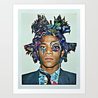basquiat Art Prints featuring Basquiat by Katy Hirschfeld