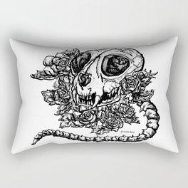 skeleton cat Rectangular Pillow