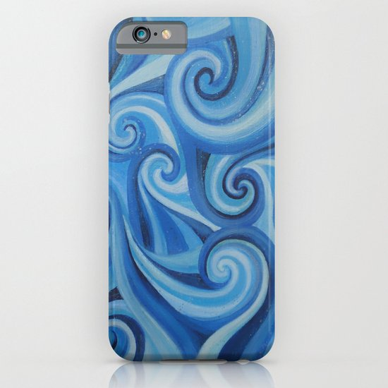 Parting Waves abstract ocean sea swirls painting iPhone & iPod Case