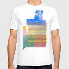 Twice Last Year White Mens Fitted Tee SMALL