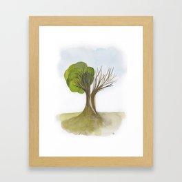 Duality Tree Framed Art Print