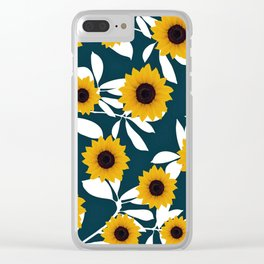 Cute sunflower pattern Clear iPhone Case