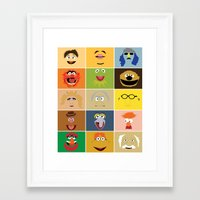 muppets Framed Art Prints featuring We Are the Muppets by Fries Frame