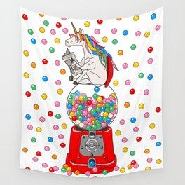 Unicorn POOP Gumballs Wall Tapestry