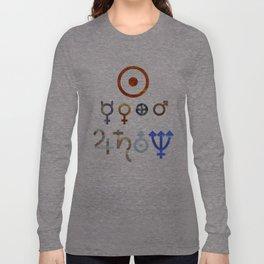 Planetary Symbols II Long Sleeve T-shirt