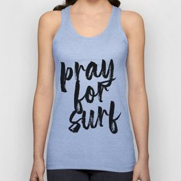 Pray for Surf Bold Script Unisex Tank Top