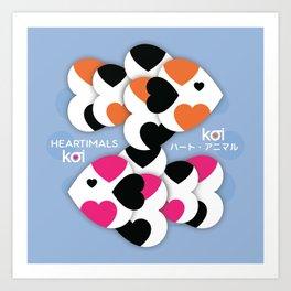 HEARTIMALS™ KOI ハート • アニマル Art Print