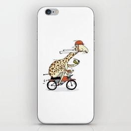 Giraffe on a motorbike eating a cheese sandwich... iPhone Skin