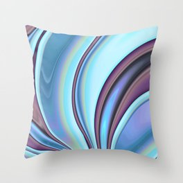 Abstract Fractal Colorways 02PrBl Throw Pillow