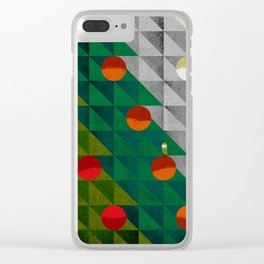 082 - Christmas tree holiday pattern I Clear iPhone Case