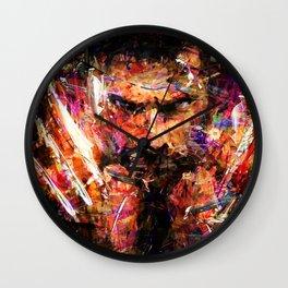 BRUSHWOLVERINE Wall Clock