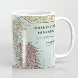 Vintage Map of The Philippines (1898) Coffee Mug