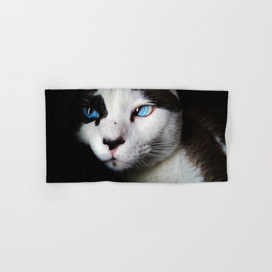 Cat siamese blue eyes Hand & Bath Towel