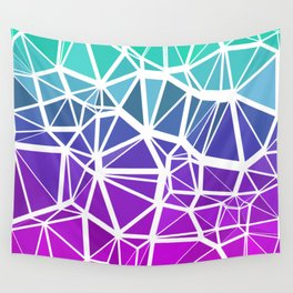 Low Poly Jewel Tones Gradient Wall Tapestry