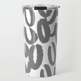 Brushy grey and white pattern - classy college student collection Travel Mug