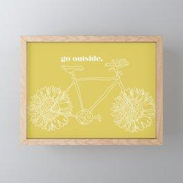Sunflower Bike Framed Mini Art Print