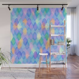 Abstract geometric pattern with rhombus Wall Mural