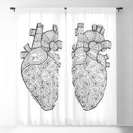 Heart Anatomy organ-mandala Blackout Curtain