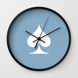 spade sign on placid blue background Wall Clock