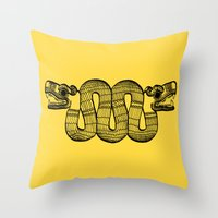 aztec Throw Pillows featuring Aztec by Estelle F