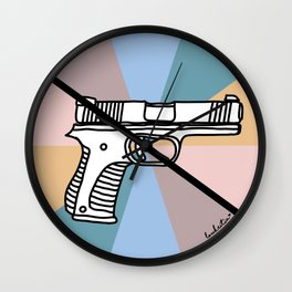 No Guns 1 Wall Clock