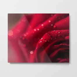 Abstract Red Rose Sparkle Photo Metal Print