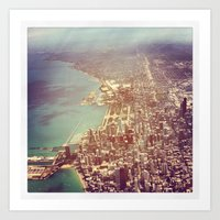 chicago Art Prints featuring Chicago by lizzy gray kitchens