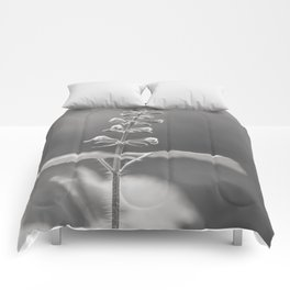 Spring & Hope - black and white floral Comforters