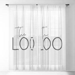 The Loo Sheer Curtain