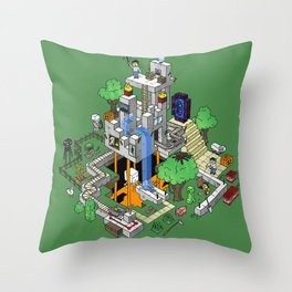 Mine City Throw Pillow