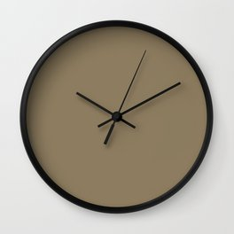 Dull Grey Brown | Solid Colour Wall Clock