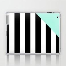 Triangle Stripes (Mint) Laptop & iPad Skin