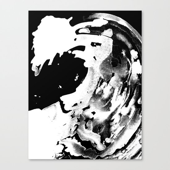 Keep Our Oceans Icy and Black and White Canvas Print