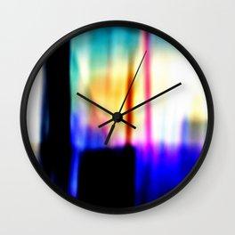 Damaged Polaroid Film Wall Clock