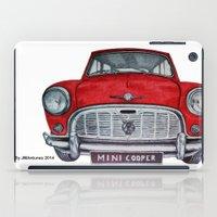 mini cooper iPad Cases featuring Mini Cooper by Jorge Antunes