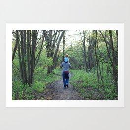 A Spring Walk Art Print