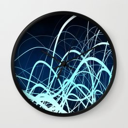 Blue Movement2 Wall Clock