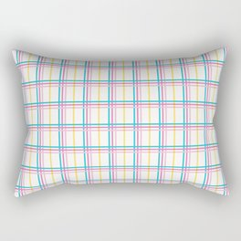 Small summer plaid graphic seamless pattern. Rectangular Pillow