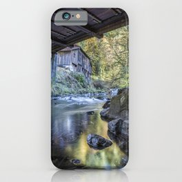 The View of Cedar Creek Grist Mill from Under The Bridge iPhone Case