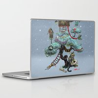 christmas tree Laptop & iPad Skins featuring Christmas Tree by Anna Shell