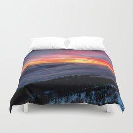 Sunrise from Mountaintop Duvet Cover
