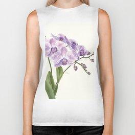 Purple phalaenopsis artwork Biker Tank