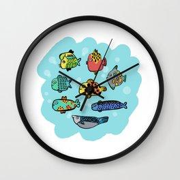 Fish Portrait in Sea Wall Clock
