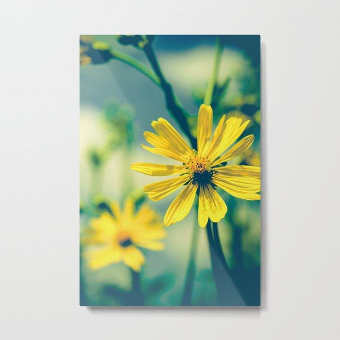 Yellow Sunshine Metal Print