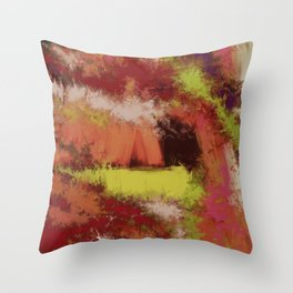 The cave Throw Pillow