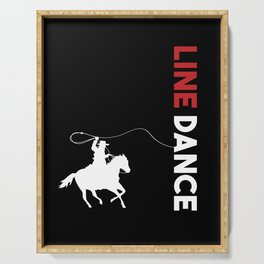 Line Dance Cowboy Lasso Rodeo Country Music Gift Serving Tray