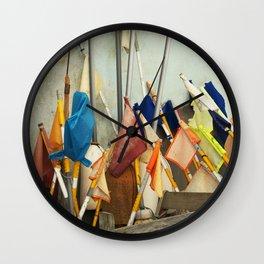fishing flags Wall Clock