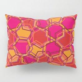 Red Abstract Hexagon Pillow Sham